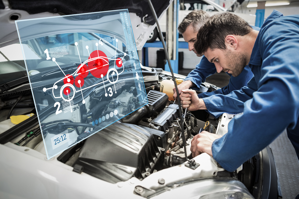 Students take classes in automotive tech while also working an internship.
