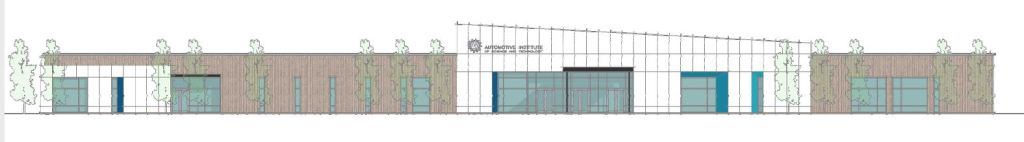 a drawing of AIST's new building